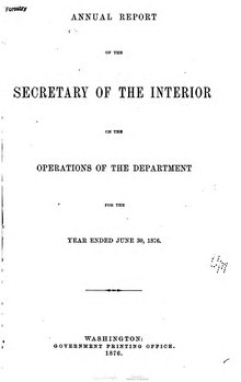 U.S. Department of the Interior Annual Report 1876.djvu