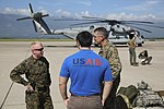 U.S. Marines arrive in the Cayman Islands aboard two CH-53E Super Stallion helicopters ready to support the humanitarian-aid and disaster relief effort to Haiti in response to Hurricane (30159066856).jpg