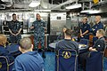 U.S. Navy Vice Adm. Scott H. Swift, top center, the commander of the U.S. 7th Fleet, discusses fleet operations with chief petty officers aboard the guided missile cruiser USS Chosin (CG 65) during a ship visit 130528-N-GR655-122.jpg
