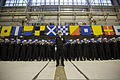 U.S. Sailors assigned to Helicopter Maritime Strike Squadron (HSM) 51 attend a change of command ceremony at Naval Air Facility Atsugi, Japan, Dec. 10, 2013 131210-N-TO330-001.jpg
