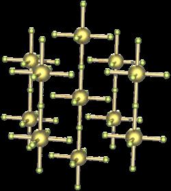 Kristallstruktur von Uran(V)-fluorid