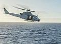UH-1Y Venom helicopter departs USS Green Bay 150204-N-EI510-270.jpg