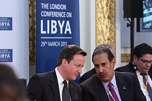 Hamad bin Jassim bin Jaber Al Thani - Hamad and British Prime Minister David Cameron in 2011