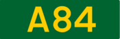 A84 road shield