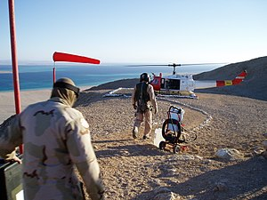 Tiran Island - USBATT and SUPBATT soldiers prepare to leave Tiran Island.