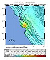 USGS Shakemap - 1989 Loma Prieta earthquake (August 1989 foreshock).jpg