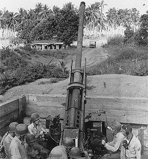 3rd Low Altitude Air Defense Battalion - An anti-aircraft gun crew of the 3rd Defense Battalion at Guadalcanal