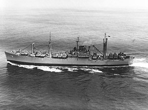 USS Bellatrix (AKA-3) underway in the 1950s
