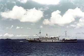 USS Henderson (AP-1) - Image: USS Bountiful (AH 9)