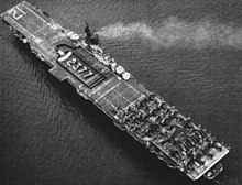 USS Boxer (CV-21) aerial photo in 1951.