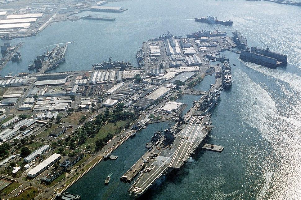 USS Enterprise at Subic Bay