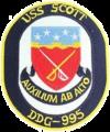 USS Scott (DDG-995) crest