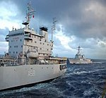 USS Sterett carries out replenishment at sea on INS Jyoti.jpg