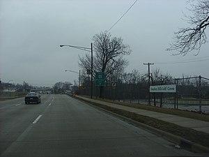 U.S. Route 24 in Michigan - Near the Michigan Avenue intersection in Dearborn