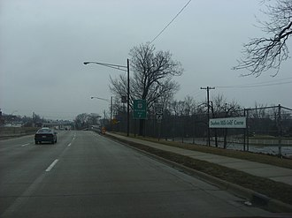 U.S. Route 24 in Michigan - Near the Michigan Avenue intersection in Dearborn