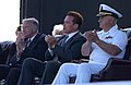 US Navy 050529-N-5621B-032 From left, San Diego Mayor Dick Murphy, California Gov. Arnold Schwarzenegger and Cmdr. Ron Ritter applaud World War II veterans.jpg