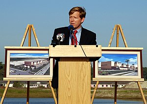 John Peyton (U.S. politician) - John Peyton speaking during a groundbreaking ceremony in 2007