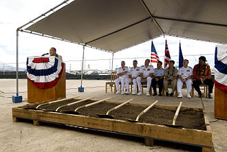 Pacific Warfighting Center - Sen. Daniel K. Inouye speaks to guests at the groundbreaking ceremony of the Pacific Warfighting Center