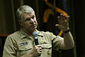 US Navy 080625-N-7526R-207 Chief of Naval Operations (CNO) Adm. Gary Roughead addresses military members and civilians during an all-hands call at Naval Support Activities Naples, Italy.jpg