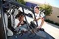 US Navy 080917-N-3271W-023 Lt. Andrew Baldwin, M.D. jokes with a student at Manzano High School.jpg