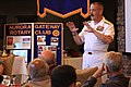 US Navy 090508-N-3038C-499 Rear Adm. Albert Garcia III, deputy Commander, Naval Facilities Engineering Command deputy chief of civil engineers, speaks to members of the Aurora Gateway Rotary Club during Denver Navy Week.jpg