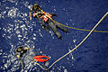 US Navy 090911-N-3830J-279 Search and rescue swimmers aboard the amphibious command ship USS Blue Ridge (LCC 19).jpg