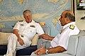 US Navy 100413-N-8273J-131 Chief of Naval Operations (CNO) Adm. Gary Roughead meets with Vice Adm. Sanjeev Bhasin in Mumbai, India.jpg