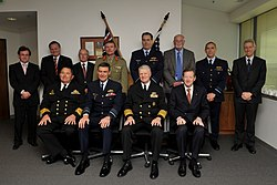US Navy 100930-N-8273J-076 Chief of Naval Operations (CNO) Adm. Gary Roughead meets with the Service Chiefs of the Royal Australian Military.jpg