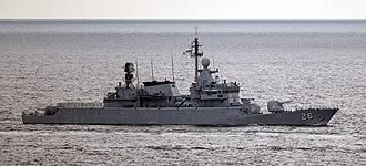 Kasturi-class corvette - Image: US Navy 110126 N 6320L 827 The Royal Malaysian Navy frigate KD Lekir (26) is underway in the Strait of Malacca