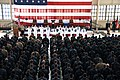 US Navy 110511-N-GO855-018 Chief of Naval Operations (CNO) Adm. Gary Roughead administers the oath of enlistment to 10 Sailors at Naval Air Station.jpg