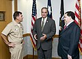US Navy 111021-N-ZZ999-098 .S. Reps. Jeff Miller, center, and Blake Farenthold visit Rear Adm. Bill Sizemore, Chief of Naval Air Training (CNATRA).jpg