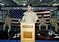 US Navy http-www.navy.mil-management-photodb-photos-100528-N-6720T-030 Vice Adm. John M. Bird, commander of U.S. 7th Fleet, speaks during a change of command ceremony aboard the aircraft carrier USS George Washington (CVN 73).jpg