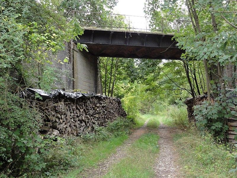 Ugny-sur-Meuse (Meuse) ancien chemin de fer (05) sous viaduc carré