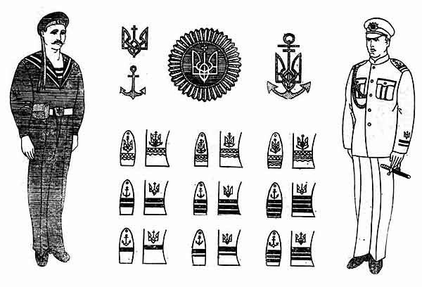 Ukrainian Navy uniforms 1918