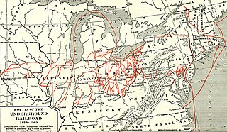 map of underground railroad