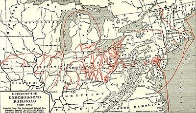 Fluchtwegeplan Underground Railroad