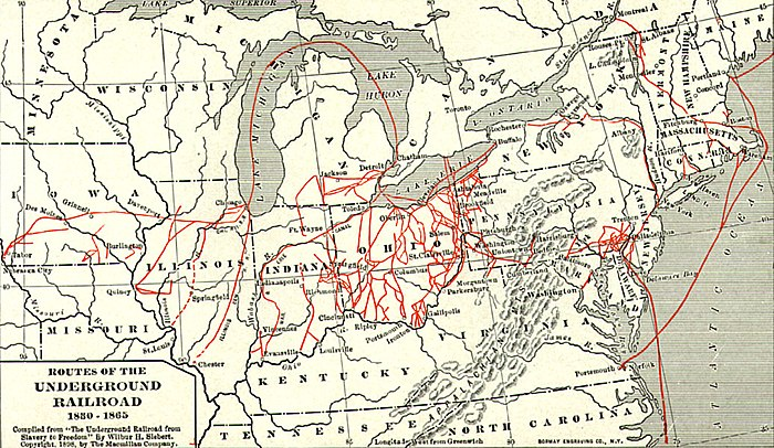 A map of various Underground Railroad routes Undergroundrailroadsmall2.jpg
