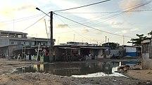 Bénin-Aménagement du territoire-Une rue de Cotonou - Quartier Avotrou