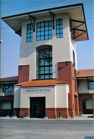 Union Station (Meridian, Mississippi) - Union Station's central tower