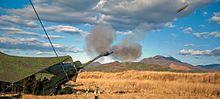 Marsoldatoj pafas M777A2 155 mm