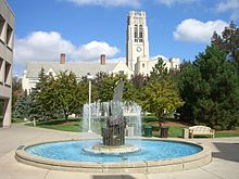 Fountain and University Hall