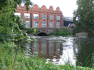 Old Woking - Unwins Mill, once a late Victorian printing mill, has been converted into large apartments.