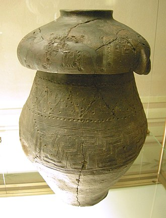 Villanovan culture - Villanovian double urn from Chiusi, Tuscany. 9th-7th century B.C. (National Archaeological Museum of Florence)