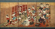 Utagawa Toyoharu (attributed to), Courtesans of the Tamaya House.jpg