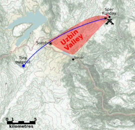 Uzbin Valley ambush map 3b.png
