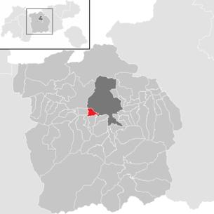 Lage der gemeinde völs tirol im bezirk innsbruck land anklickbare