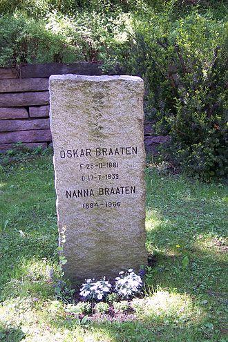 Oskar Braaten - grave of Oskar Braaten