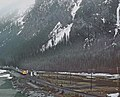 VIA 6553 with the Canadian at Field, BC in May 1982 -- 3 photos (31431469883).jpg