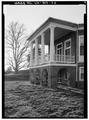 VIEW OF SOUTH PORCH FROM SOUTHEAST (1986) - Poplar Forest, State Route 661, Forest, Bedford County, VA HABS VA,10-BED.V,1-22.tif