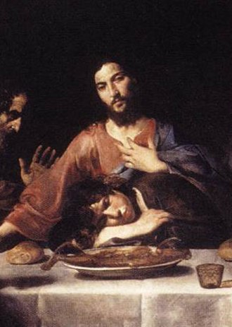 Valentin de Boulogne - St. John and Jesus at the Last Supper (detail), 1625–1626